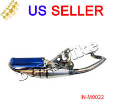 2-STROKE Performance Exhaust Pipe Jog 50cc Minarelli 1E40QMB Blue Moped Scooter