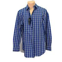 Banana Republic (Men's Size L) Linen Slim Fit Button Down Long Sleeve Blue Shirt