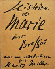 Brassai, Henry Miller / Historie De Marie First Edition 1949