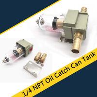 1/4 NPT Mini Oil Catch Can Tank+12mm Screw For Honda Civic