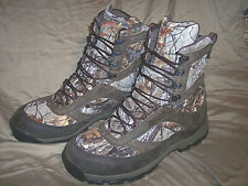 Mens 10.5 Extra Wide 1000g Insulated Hunting Boots Waterproof Goretex Camo Boots