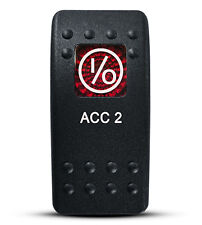 Labeled Contura II Rocker Switch Cover ONLY, ACC 2 (Red Window)
