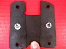 Black Rubber Grips for the Colt Government Model 1911 45apc Pistol - w/Logo