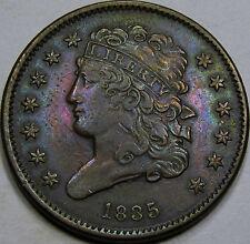 1835 Classic Half Cent Choice AU+... Nice coin! Neat Under lying Tone! Pretty!!!