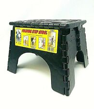Sturdy B & R, E-Z Foldz Folding Step Stool : BLACK
