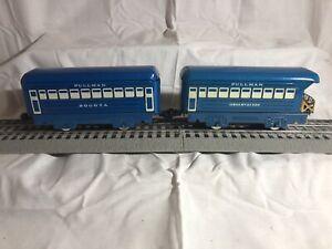 Lot of 2 Vintage Marx Trains O scale Pullman Bogota & Observation Passenger Cars