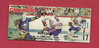 RARE 1992 CANADIENS MONTREAL VS BUFFALO SABRES TICKET STUB
