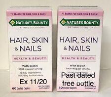 Nature's Bounty Hair Skin and Nails 60 caps 3000 mcg w/Biotin + free bottle