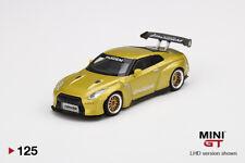 Mini GT Nissan GT-R R35 GT Wing Yellow MGT00125 1/64