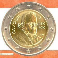 Sondermünzen Italien: 2 Euro Münze 2010 Cavour Sondermünze zwei€ Gedenkmünze