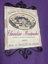 Wall Plaque Domaine De Chateau Bellevuie Mise en bouteille du chateau Pre-owned