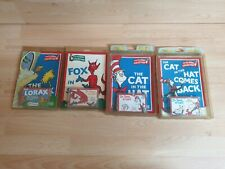 Vintage Dr. Seuss Green Books & Cassettes the lorax cat in the hat fox in socks