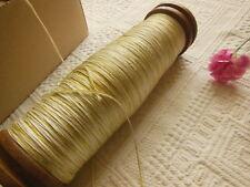 Gruesa bobina antiguo de madera 24 cm seguimiento hilo seda y algodón?