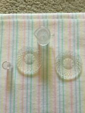 Steffi Love Dollhouse Dishes Clear Cut Glass Style Plastic 2 Plates Pitcher 1994