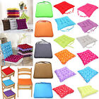 HOT COLOURFUL SEAT PAD DINING ROOM GARDEN HOME KITCHEN CHAIR CUSHION WITH TIE ON