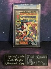Marvel Team-Up #62 CGC 9.8 Highest Grade White Pages Spider-Man Ms Marvel Comic