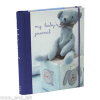 My Baby's Journal Blue Boy First Year Diary Keepsake Record Book From Birth
