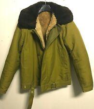 Original Russian Army winter Tankman Jacket Olive with belt fur lining collar 50