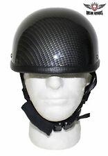 Motorcycle Riding Black Carbon Fiber Novelty Helmet. Fiberglass shell