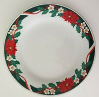 "Tienshan FAIRFIELD Fine China Deck The Halls 10.5"" Dinner Plates Christmas China"