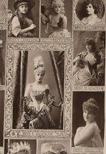 c1890 ORIGINAL CABINET CARD PORTRAIT PHOTOGRAPH LEADING ACTRESSES
