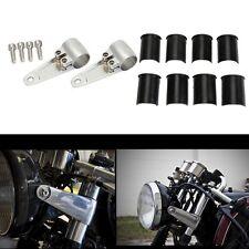 Chromed Aluminum Headlight Fork Mounting Brackets to 35mm 39mm 41mm Forks