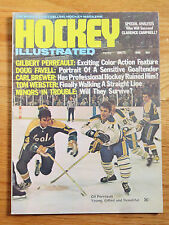 Hockey Illustrated Jan 1972 GIL PERREAULT Magazine AUTOS Ratelle Park Gilbert