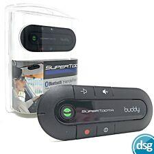 Supertooth Buddy Hands Free Bluetooth Visor Car Kit for Handsfree Calls - Black