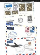 ITALY(THAILAND)-4 first flight covers 1971/1974-all backstamped