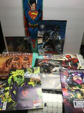 Lot of 12 promo comic/Wizard Unused POSTERS Wolverine, Pitt, X Force,Superman