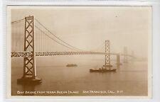 BAY BRIDGE FROM YERBA BUENA ISLAND, SAN FRANCISCO: California postcard (C20735)