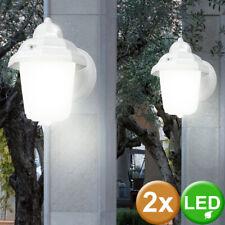 2er Set LED Wand Leuchte Garten Veranda Beleuchtung Sensor Strahler Lampe Hof
