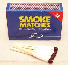 SMOKE MATCHES - BOX OF 12 - 20 SECOND BURN - 1.4 cu. mtrs OF SMOKE - FLUE TEST