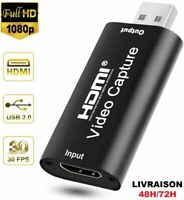 HDMI Video Capture Usb 2.0 HD 1080P Enregistreur Jeux Live Streaming