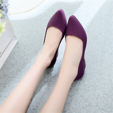 Lady Women's Pointed Low Heel Frosted Flat Shoes Shallow Mouth Casual Shoes SIZE