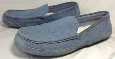 Mens Ugg Slippers Size 13 Gray Felt Wool With Sheepskin In-Sole