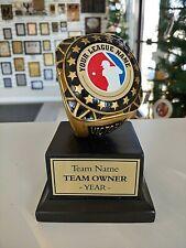 "Fantasy Baseball Trophy Championship Ring Award New 5 1/4"" Tall Resin P-Rfc883"