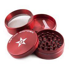GStar 2.0 Inch 4 Pieces Aluminum Tobacco Spice Herb Grinder-Red