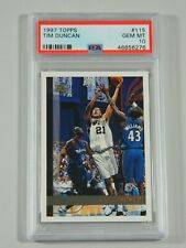 1997-98 Topps #115 Tim Duncan PSA 10 GEM MINT RC Rookie Basketball Card Spurs