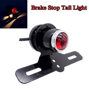 1PC 12V Smoke Motorcycle Retro Fender Lamp LED Brake Stop Rear Tail Turn Light