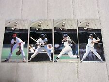 Lot (4) 1985 Leaf-Donruss All Star Game Fold Out Pop-Up Figures OZZIE, RICKEY +