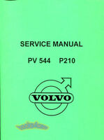 VOLVO PV544 SHOP MANUAL SERVICE REPAIR BOOK WORKSHOP RESTORATION GUIDE 1957-1967