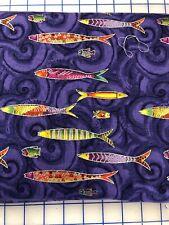 Sea Goddess by Laurel Burch, Clothworks, Dark Purple Metallic (Silver) Y2600-28M