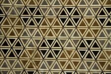 "55"" Black & Taupe Hexagon Chenille Upholstery Sale Fabric- 10 Yards"