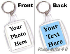 PERSONALISED KEYRING WITH YOUR PHOTO & MESSAGE - 45mm x 35mm (PASSPORT SIZE)