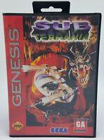 Sub-Terrania Sega Genesis - No Manual - Tested & Working - FREE US SHIP