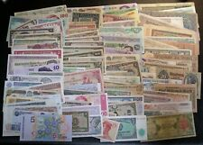 90+ all different World Bank Notes CURRENCY Paper Money Lot (#20)