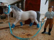 4  x Halfter mit Bandagen pink türkis gelb orange für Schleich Pferde