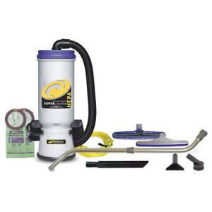 PROTEAM 107118 Backpack Vacuum,Reusable Bag,10 lb.