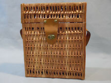 Vintage Executive Wine Basket  with leather strap Excellent Condition